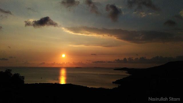 Seperti inilah pemandangan sunset jika cuaca bagus