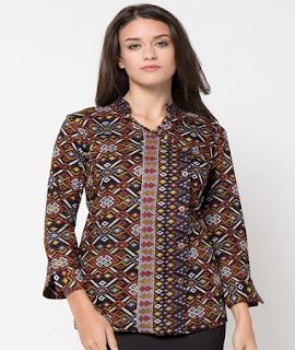 baju batik atasan wanita kantor