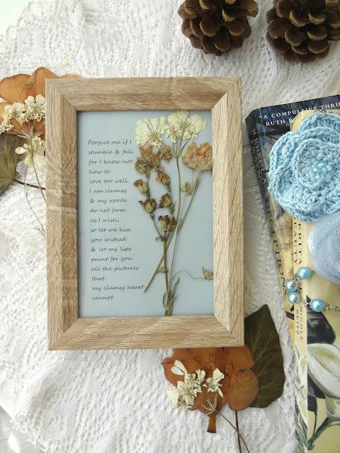 Framed Poem DIY – unique home decor