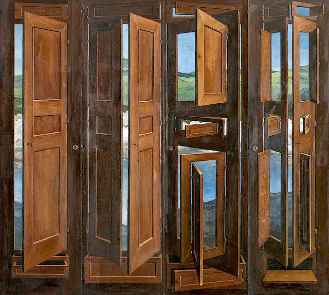 Marcel Jean 1941 painting of doors