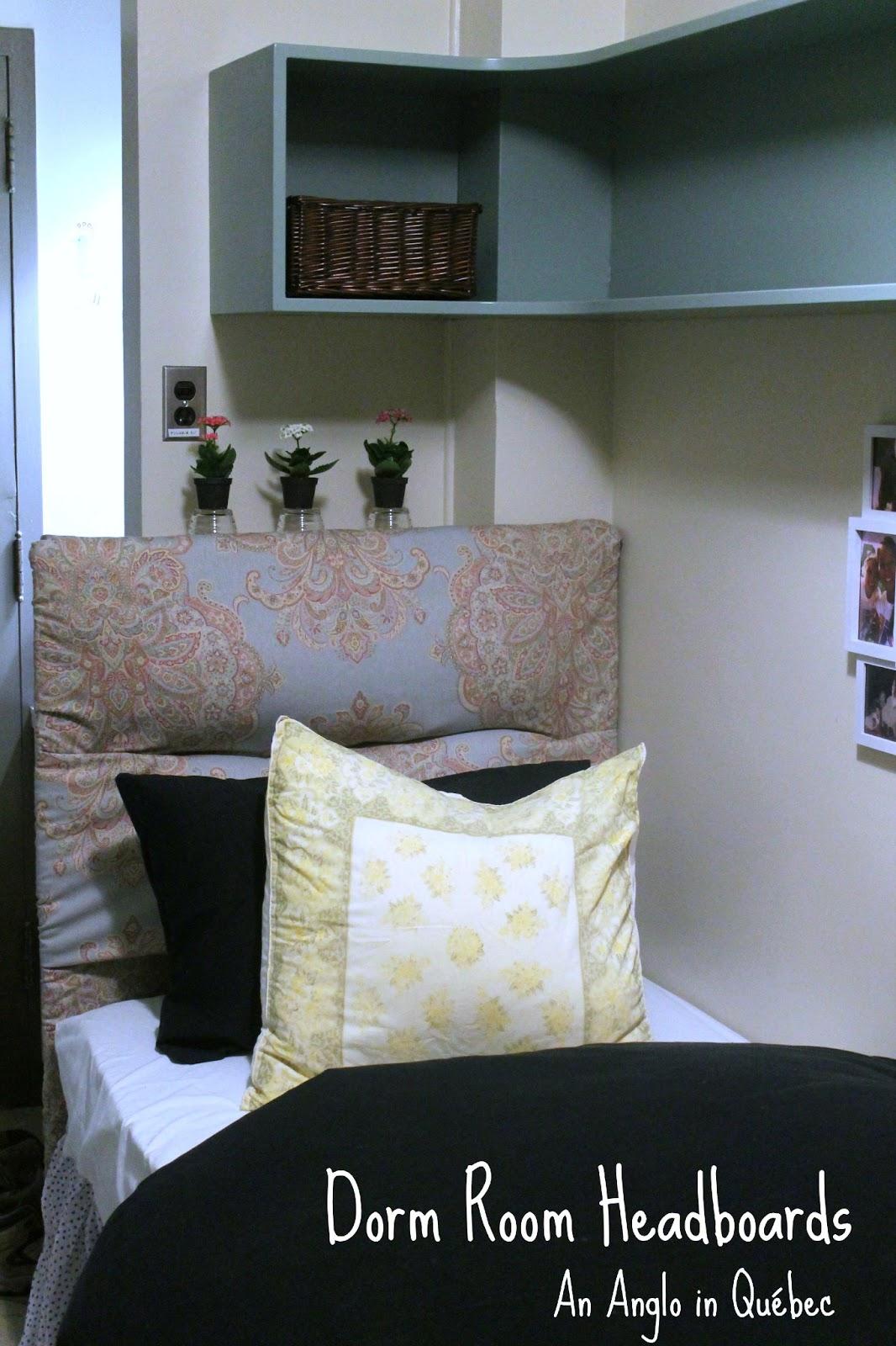 Dorm Room Headboards: An Anglo In Québec: Dorm Room Decorating