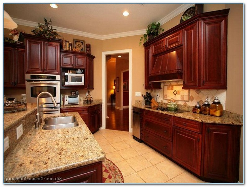 KITCHEN DECORATING Ideas with Cherry Cabinets | Home ...