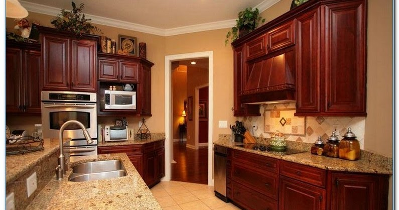 Kitchen Decorating Ideas With Cherry Cabinets Home Interior Exterior Decor Design Ideas