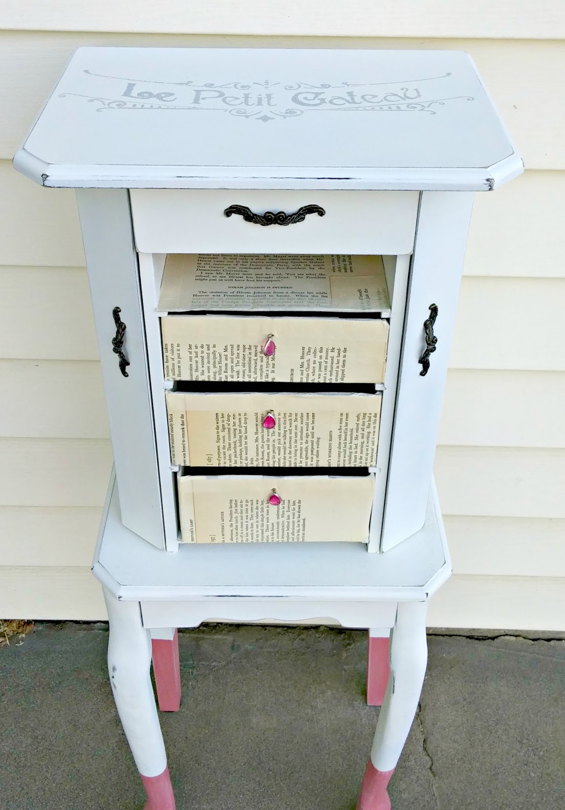 Before And After Dumpster Jewelry Armoire Little Vintage