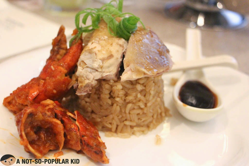 The Hainanese Chicken and Rice with Chili Crabs of Vikings SM North Edsa