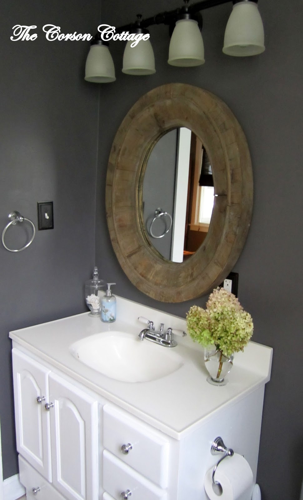 Remodelaholic Granite Gray Bathroom Reveal