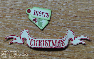 christmas banner heat embossing