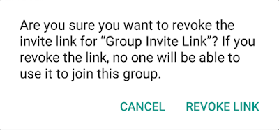 Change whatsapp group invite link tufail khans blog tap on revoke link you will see confirmation message are you sure you want to revoke the invite link for your group name stopboris Choice Image