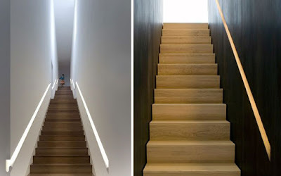 LED stair lighting for handrails