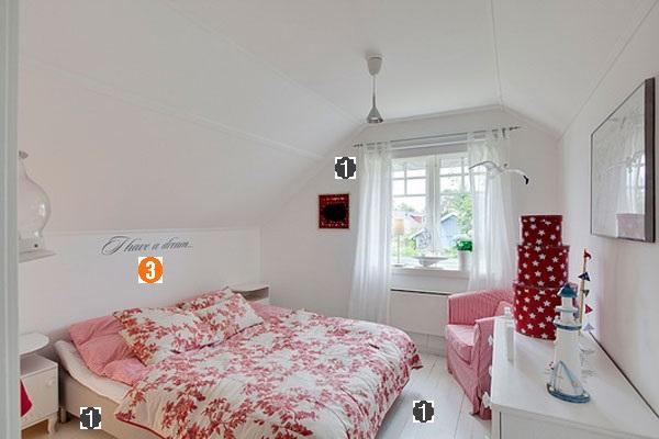 quarto feminino, pequeno, floral, vermelho, branco, tumblr, casal, cama, dicas, como decorar