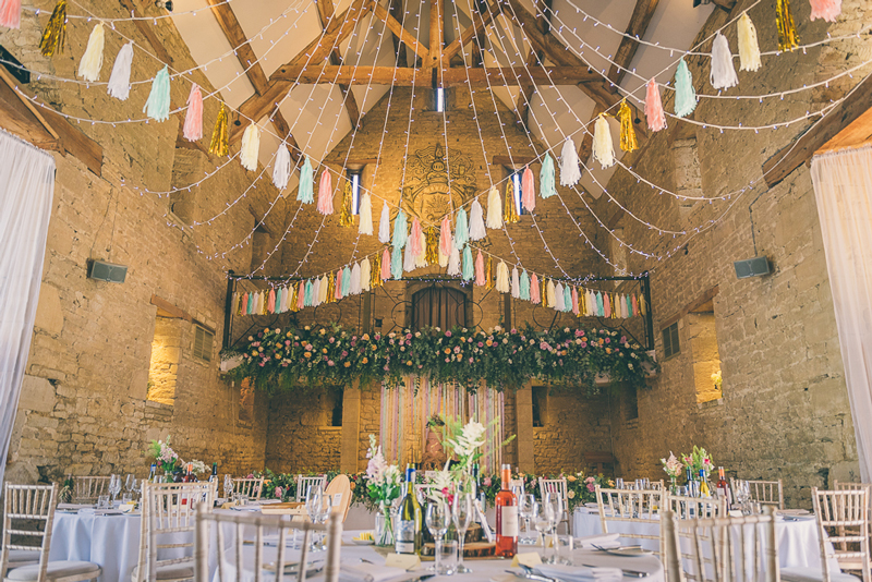My Boho Wedding The Great Tythe Barn Cotswolds