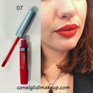 swatches rossetto liquido extreme make up 07