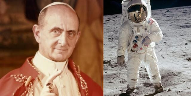 Foto: Papa Paulo VI e astronauta