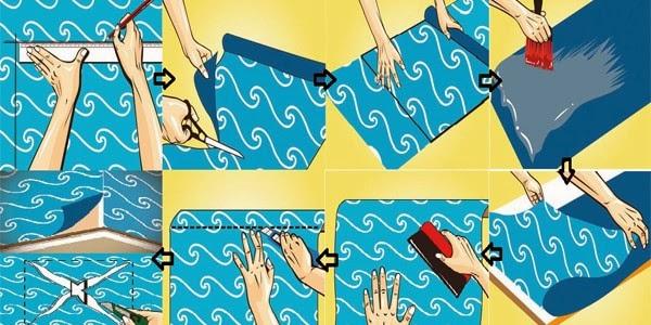 Cara memasang wallpaper dinding dengan mudah - Cara pasang wallpaper ...