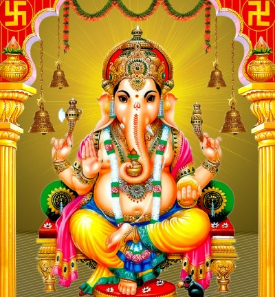 Hindu God image of shri ganesha