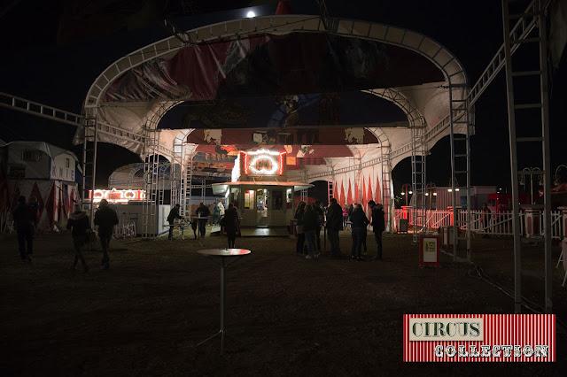 pénombre a l'entrée du cirque Knie