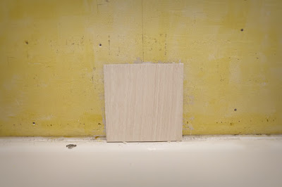 tile half center wall adhesive mortar cement board
