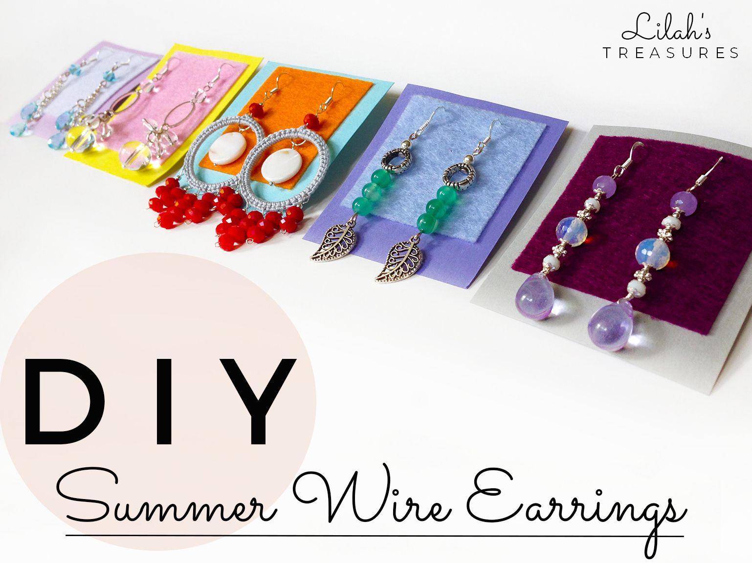 DIY summer wire earrings