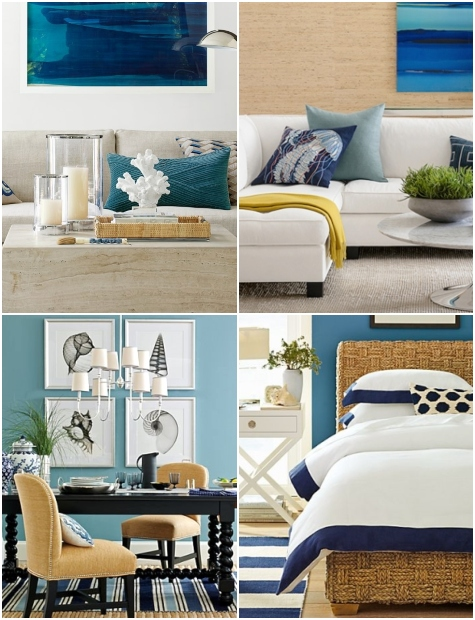 Williams Sonoma Modern Coastal Room Designs