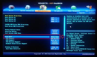 Setting Fast Boot BIOS Ultra Fast