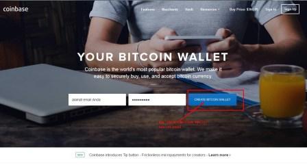 Daftar Gratis Akun Bitcoin di CoinBase.com
