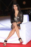 Pooja Hegde looks glamarous in deep neck sleevless short tight golden gown at Duvvada Jagannadham thank you meet function 079.JPG