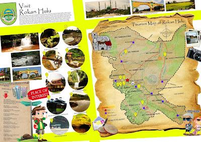 Peta Wisata Kabupaten Rokan Hulu (Rohul) - Tourism Map of Rokan Hulu - Riau - Indonesia