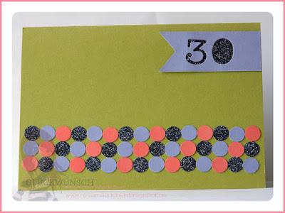 Stampin' Up! rosa Mädchen Kulmbach: Geburtstagskarte mit Punkten und Eins für alles