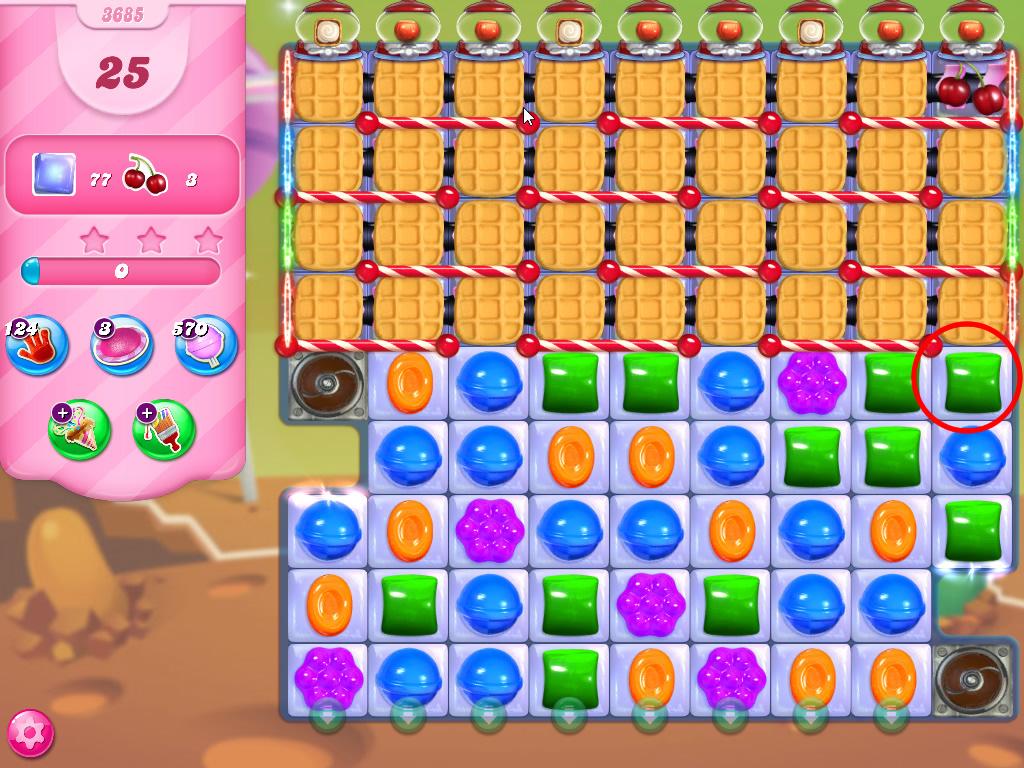 Candy Crush Saga level 3685