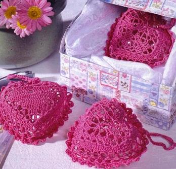 вязание крючком и спицамиcrochet And Knitting вязаные сердечки крючком