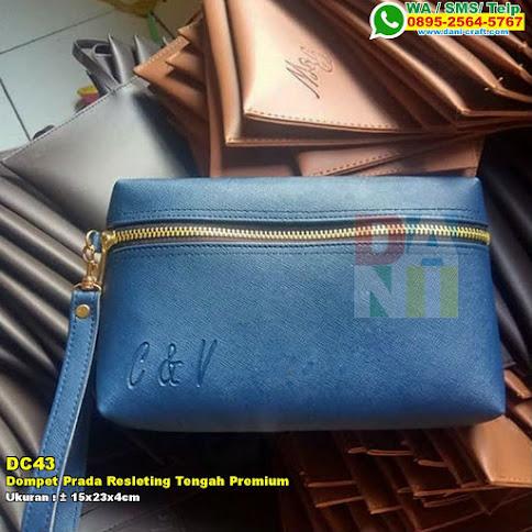 Dompet Prada Resleting Tengah Premium