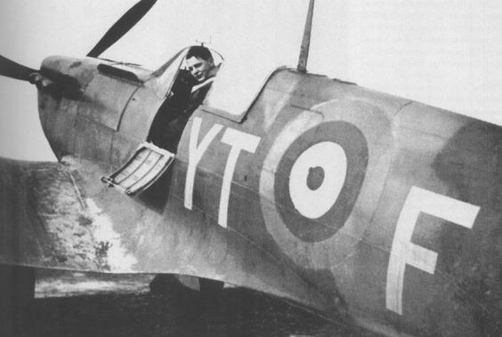 13 July 1940 worldwartwo.filminspector.com RAF pilot Ernest Glaser Spitfire