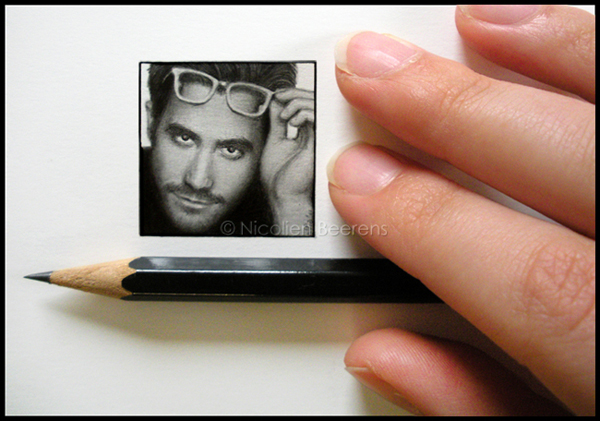 03-Jake-Gyllenhaal-Nicolien-Beerens-Cataclysm-X-Miniature-Celebrity-Portraits-Drawing-www-designstack-co