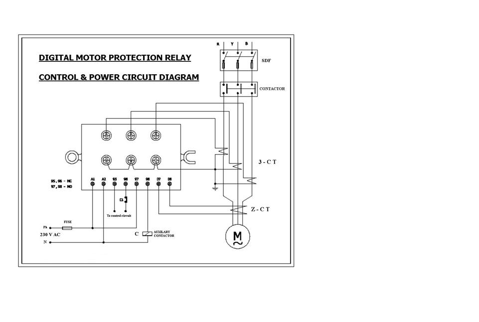 Technical Data Bank of Electrical Engineering: DIGITAL MOTOR PROTECTION RELAY  CIRCUIT DIAGRAM