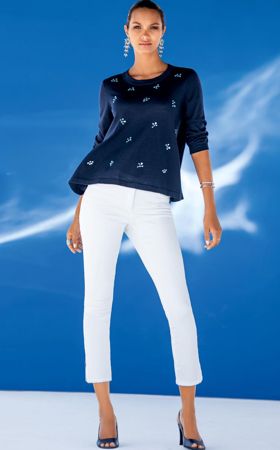 Madeleine Navy Sweater