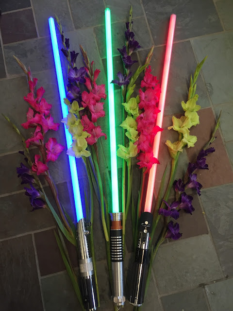 Star Wars light sabers and gladioli at Stein Your Florist Co.