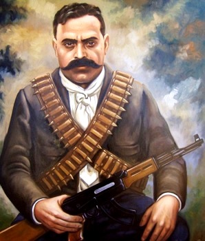 Dibujo de Emiliano Zapata a color