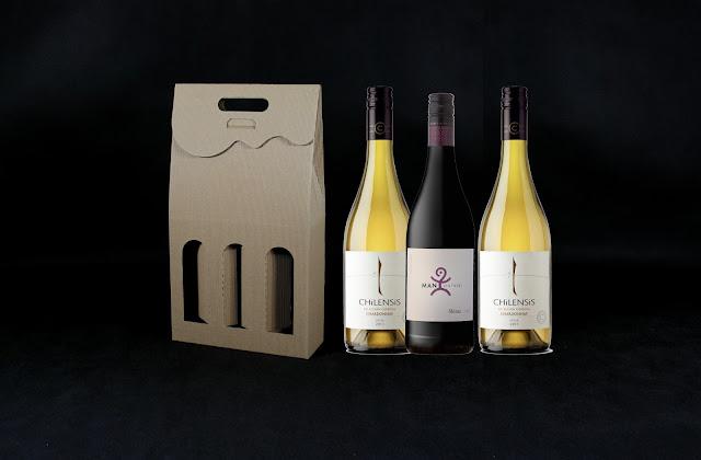 pudełko na 3 butelki wina