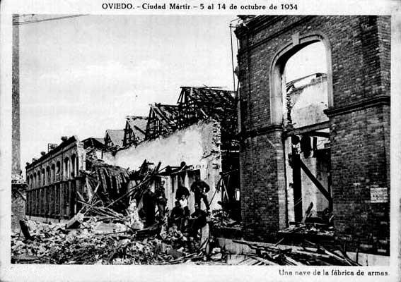 Destrucción y muerte tras el fracaso del golpe de 1934 en toda españa.