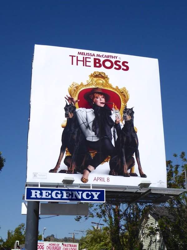 Melissa McCarthy The Boss film billboard