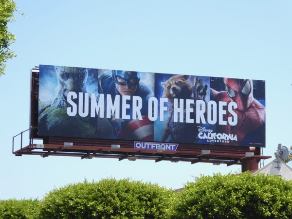 Summer of Heroes Disneyland billboard