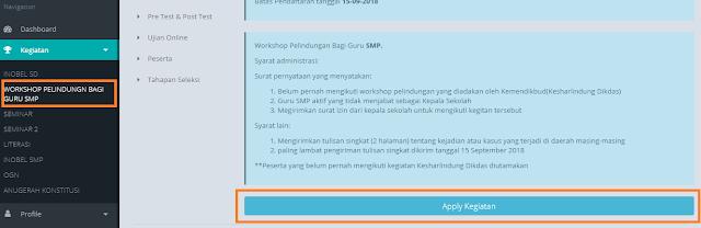 Workshop Perlindungan Profesi Guru SMP 2018