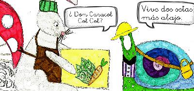 Detalle ilustración páginas interior caracol col col
