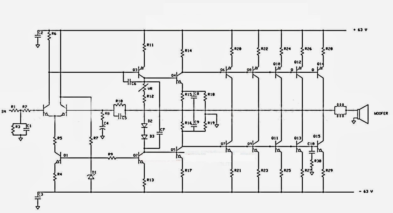 Fm Transmitter Circuit Diagram Audio Amplifier Schematic Circuits 1000w