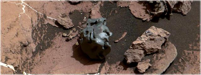 estranho meteorito encontrado em Marte