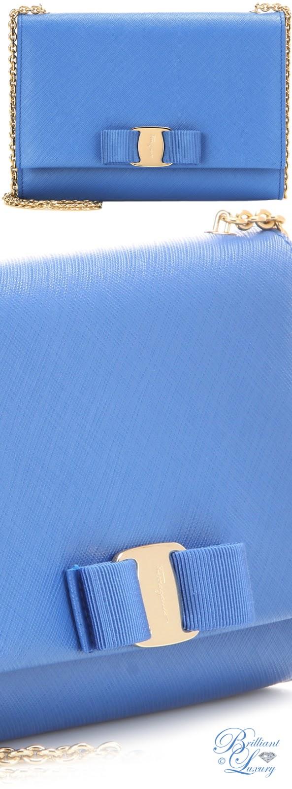Brilliant Luxury ♦ Salvatore Ferragamo Ginny Small Leather Shoulder Bag