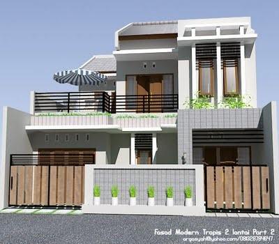 fasad rumah minimalis 1 lantai 2