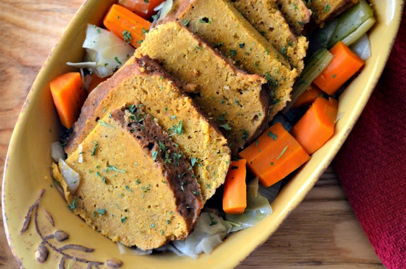 vegan easter, vegan st. Patrick's day recipe, vegan st. patrick's day, vegan st. patty's day, vegan corned seitan and cabbage, vegan brining, brining seitan, vegan spring recipes, vegan corned beef, vegan corned seitan