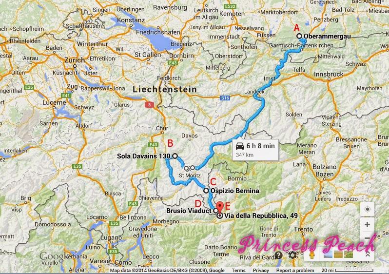 瑞士兜風地圖