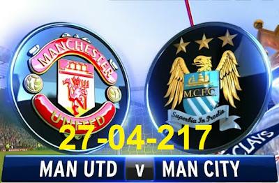 القنوات الناقلة مجانا لمباراة القمة الانجليزية بين   Manchester City vs Manchester United ليوم 27-04-2017